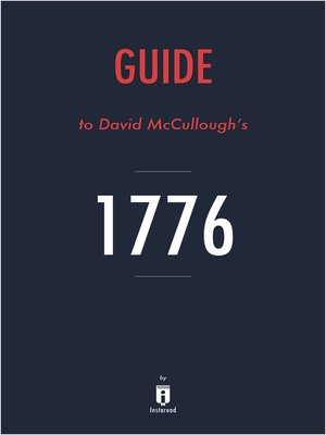 cover image of Guide to David McCullough's 1776 by Instaread