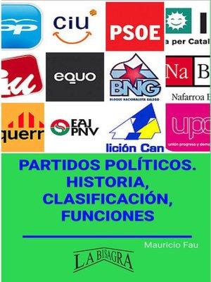 cover image of Partidos Políticos. Historia, Clasificación, Funciones
