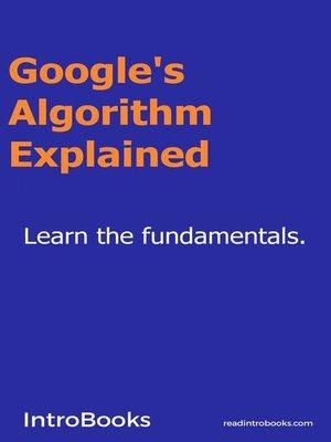 cover image of Google's Algorithm Explained