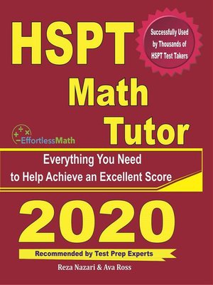 cover image of HSPT Math Tutor
