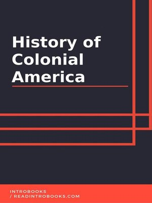 cover image of History of Colonial America