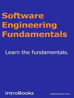 cover image of Software Engineering Fundamentals