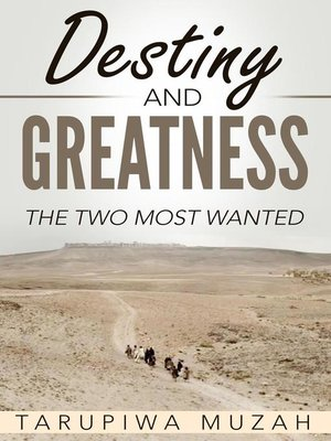 cover image of Destiny and Greatness