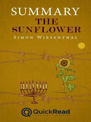 """cover image of Summary of """"The Sunflower"""" by Simon Wiesenthal"""