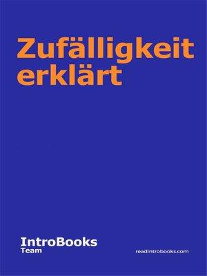 cover image of Zufälligkeit erklärt