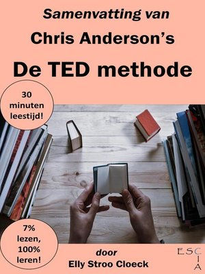 cover image of Samenvatting van Chris Anderson's De TED Methode