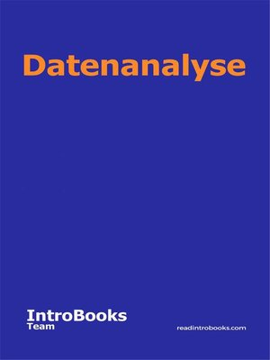 cover image of Datenanalyse