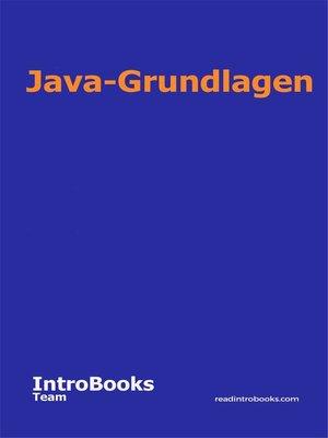 cover image of Java-Grundlagen