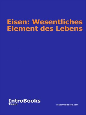 cover image of Eisen