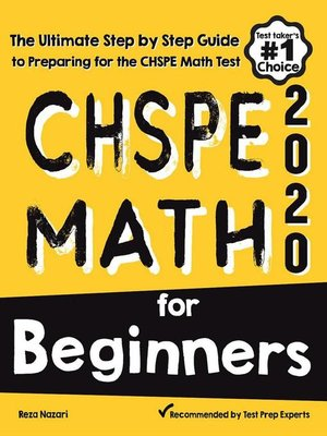 cover image of CHSPE Math for Beginners