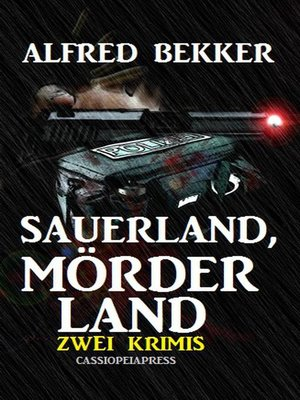 cover image of Sauerland, Mörderland