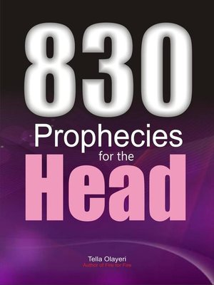 cover image of 830 Prophecies for the Head