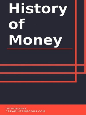 cover image of History of Money
