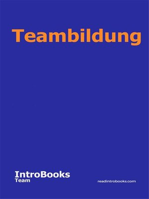 cover image of Teambildung