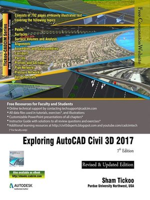 cover image of Exploring AutoCAD Civil 3D 2017
