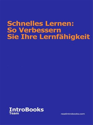 cover image of Schnelles Lernen