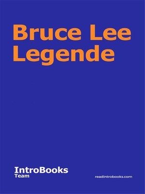 cover image of Bruce Lee Legende