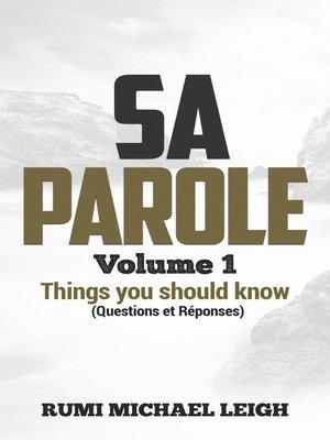 cover image of Sa Parole