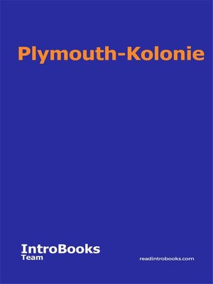cover image of Plymouth-Kolonie