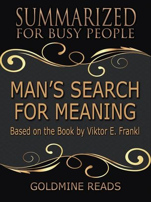 cover image of Man's Search for Meaning--Summarized for Busy People