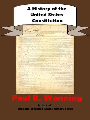 cover image of A History of the United States Constitution