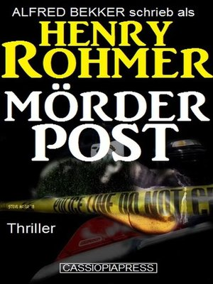 cover image of Mörderpost