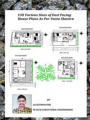 cover image of 150 Various Sizes of East Facing House Plans As Per Vastu Shastra