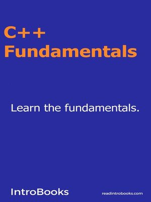 cover image of C++ Fundamentals