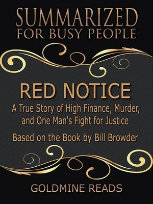 cover image of Red Notice--Summarized for Busy People