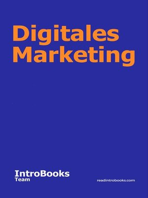 cover image of Digitales Marketing