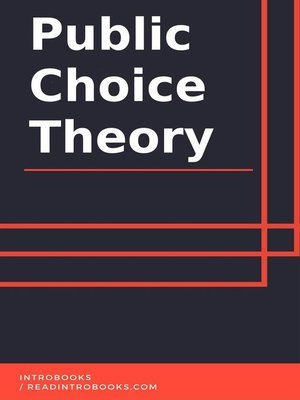 cover image of Public Choice Theory