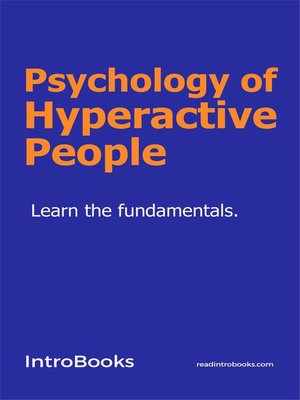 cover image of Psychology of Hyperactive People