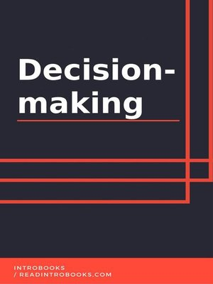 cover image of Decision-making