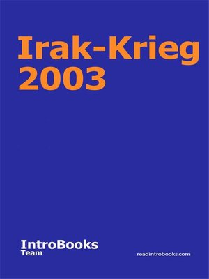 cover image of Irak-Krieg 2003