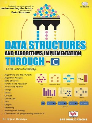 cover image of Data Structures and Algorithms Implementation through C