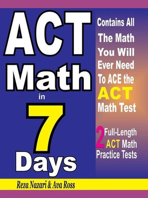cover image of ACT Math in 7 Days