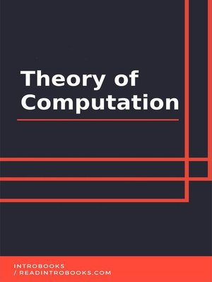 cover image of Theory of Computation