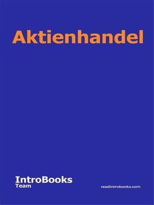 cover image of Aktienhandel