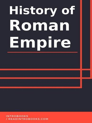 cover image of History of Roman Empire