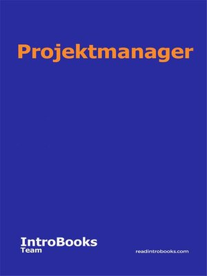 cover image of Projektmanager