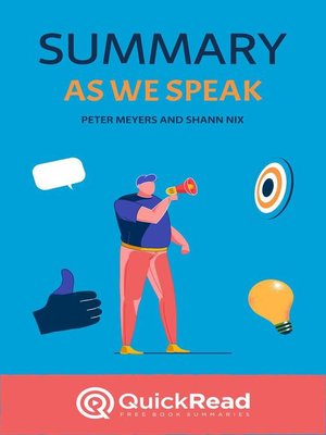 """cover image of Summary of """"As We Speak"""" by Peter Meyers and Shann Nix"""