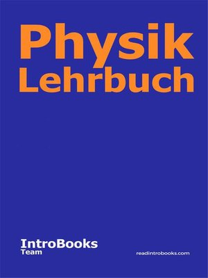 cover image of Physik Lehrbuch