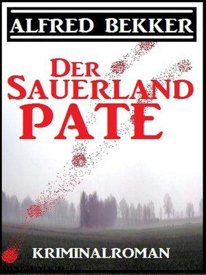 cover image of Alfred Bekker Kriminalroman