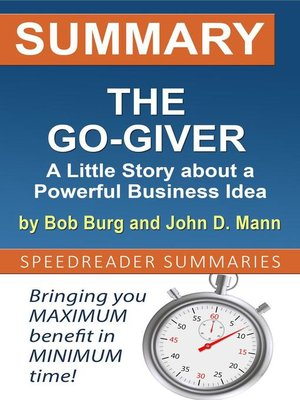 cover image of Summary of the Go-Giver