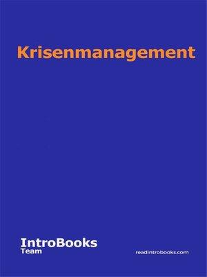 cover image of Krisenmanagement
