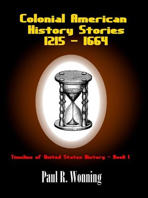 cover image of Colonial American History Stories--1215--1664