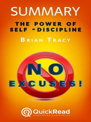 """cover image of Summary of """"No Excuses!"""" by Brian Tracy"""