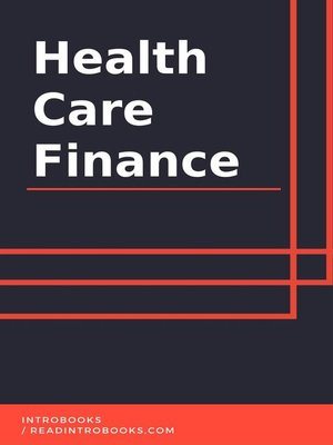 cover image of Health Care Finance