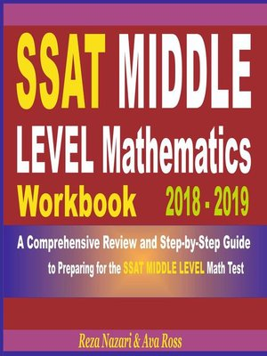 cover image of SSAT Middle Level Mathematics Workbook 2018--2019