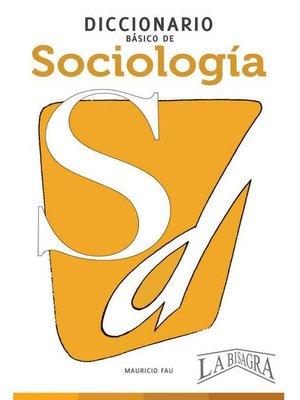 cover image of Diccionario Básico de Sociología